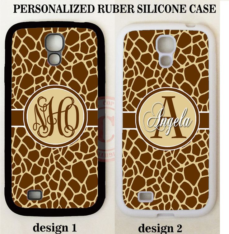 PERSONALIZE GIRAFFE ANIMAL PRINT MONOGRAM Case For Samsung Galaxy S7 S6 NOTE 7 5 #UnbrandedGeneric
