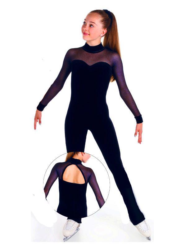 NEW SKATING DRESS CATSUIT UNITARD ELITE XPRESSION NAVY 1524 MADE ORDER 2 -3 WEEK