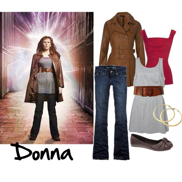 """""""Donna Noble (Doctor Who)"""" by ann-d on Polyvore"""