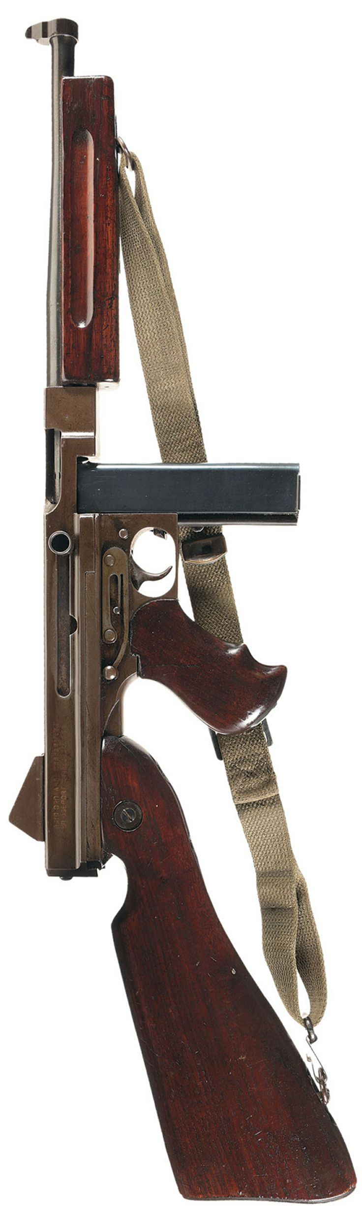 THOMPSON SUBMACHINE GUN/CALIBER 45 M1/A1/NO. 432620. AUTO ORDNANCE CORPORATION/BRIDGEPORT CONNECTICUT U.S.A.