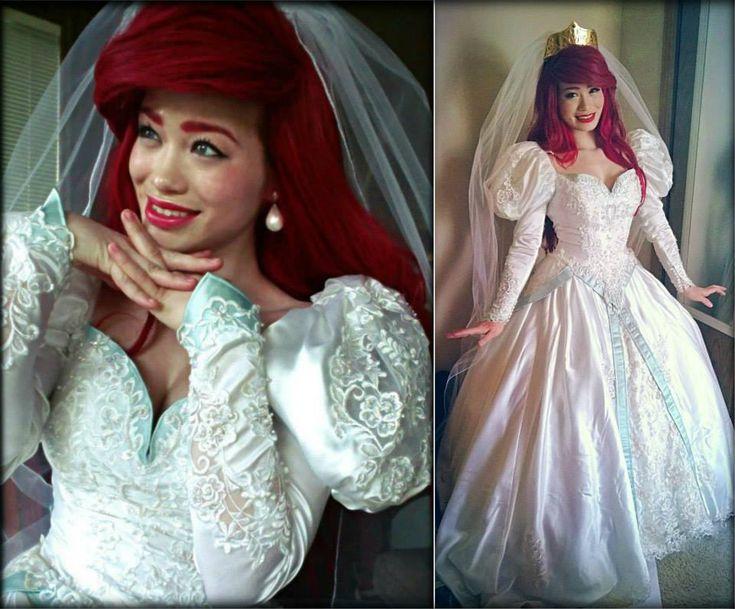 my ariel wedding dress cosplay pinterest ariel