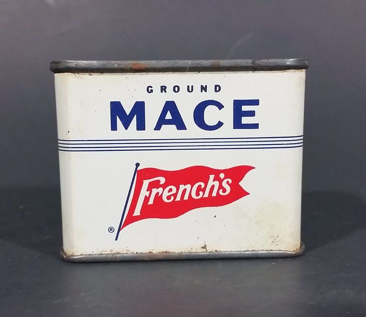 Vintage French's Ground Mace 1 oz Spice Tin - has product https://treasurevalleyantiques.com/products/vintage-frenchs-ground-mace-1-oz-spice-tin-has-product #Vintage #MidCentury #Frenchs #GroundMace #Mace #Spice #Tins #VintageTins #Kitchen #Collectibles #Cooking #Flavors #TheRTFrenchCompany #RTFrench #Rochester #NewYork #USA #OrderToday #VisitUs #BuyNow