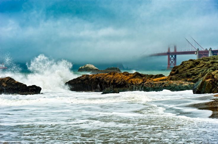 I love this image of the Golden Gate Bridge by Norman Schwartz.