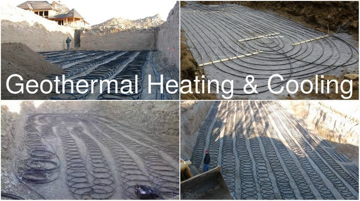 Geothermal Heating And Cooling By The Use Of Heat Pumps And