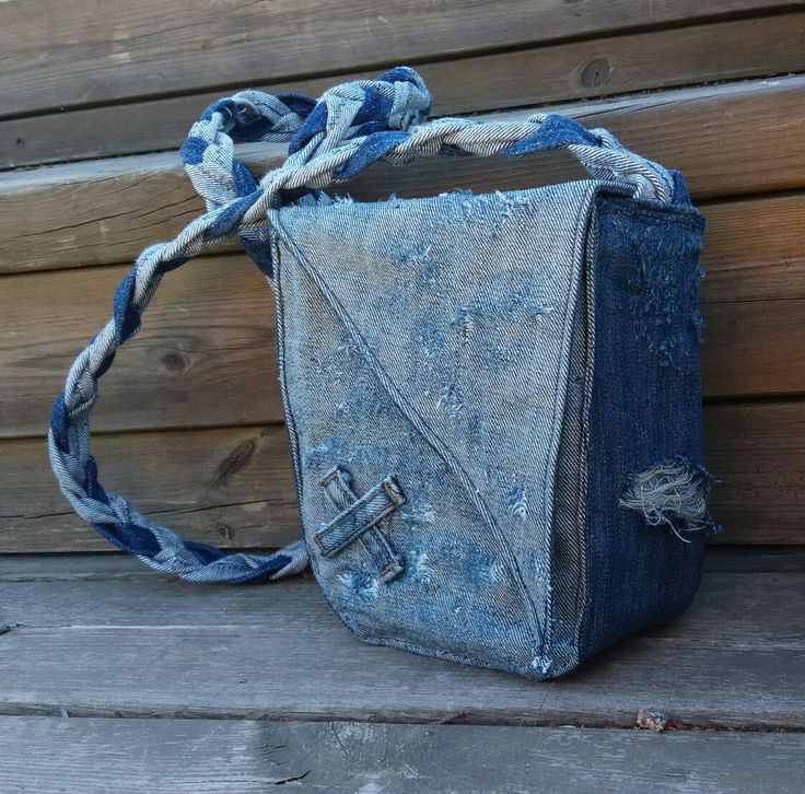 Handbag recycled denim, DIY, jeans; MannaDsign