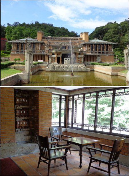 Frank Lloyd Wright's Imperial Hotel   Museum Meiji-Mura, Inuyama, Aichi, Japan 明治村 旧帝国ホテル