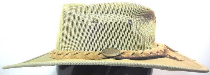 BARMAH Hats Canvas Drover Airflow 1057 Medium Beige Mesh Vented NEW #BarmahHats #WideBrim