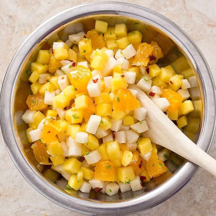 5 Stars! Mango, Orange, and Jicama Salad.  It even has red pepper flakes to add a little heat.