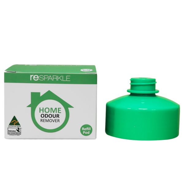 reSPARKLE Home Odour Remover Refill Pods             $5.20 100% Natural concentrate to replenish your 500ml bottle of Home Odour Remover. Simply fill your bottle to water mark, twist on refill to automatically release concentrate into bottle.  FAMILY & PET SAFE ANTI-BACTERIAL SANITIZES KILLS ODOUR