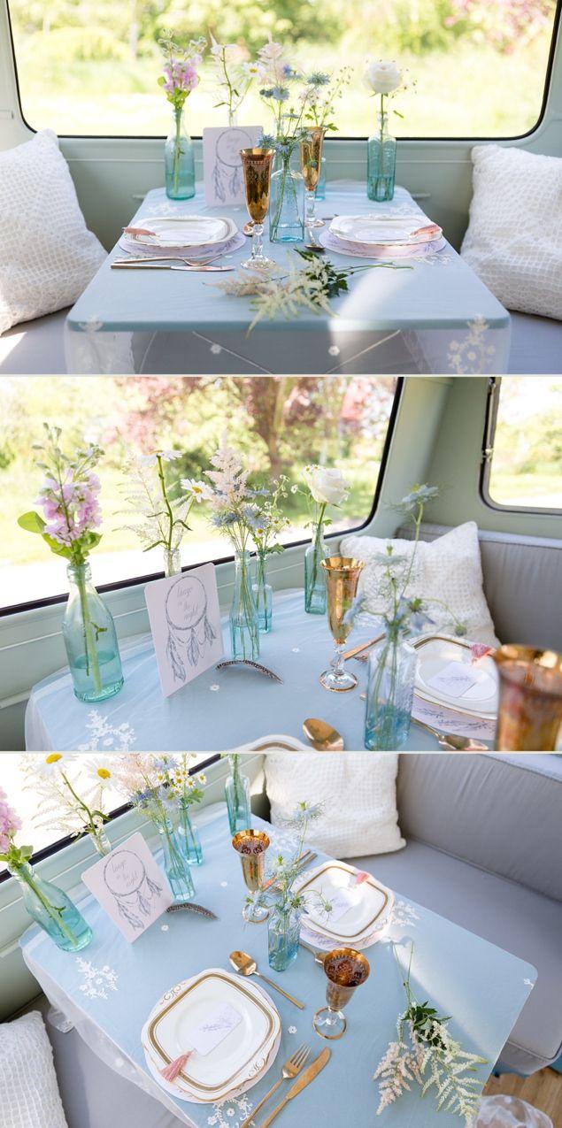 Vintage Caravan Hire Cheshire Rock My Wedding Styled Shoot