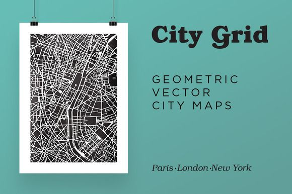 City Grid Maps by BlackBird Foundry on @creativemarket