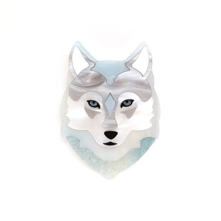 Winter the Wolf Brooch