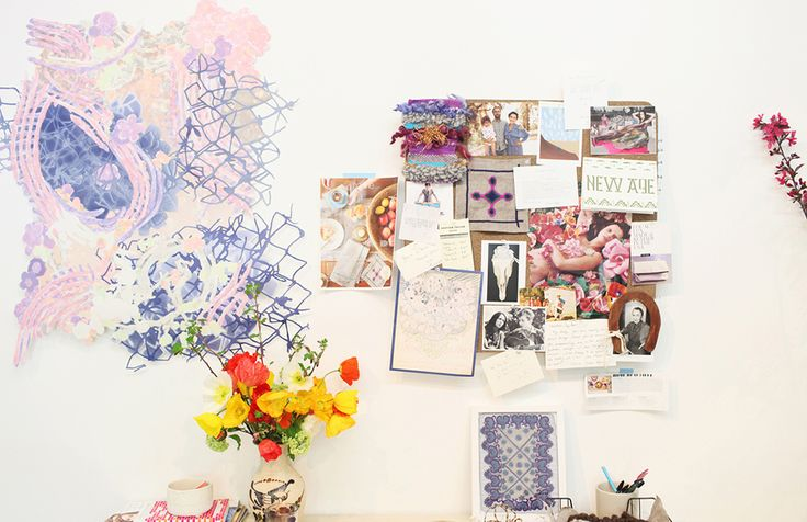 Heather Taylor of LA in Bloom, owner of Heather Taylor Home & Creative Director of Taylor De Cordoba // inspiration board // pin board // fresh flowers // photography by @Kimberly Genevieve