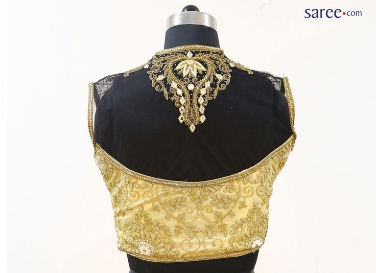 Cream Net Blouse with Embroidery Work
