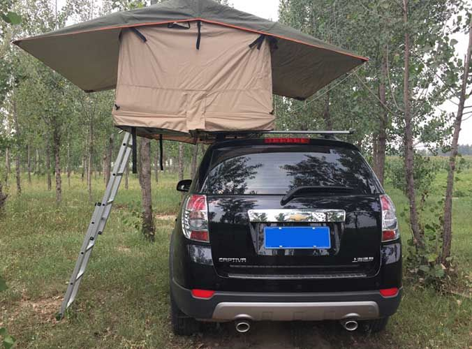 Rooftent Srt05s 48 For Sale You Can Fit One Tent And One Suitcase On The Car Roof And The Tent Will Occupy Only Half Of The C Roof Tent Top Tents Car Top