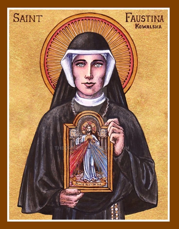 St. Faustina icon by Theophilia.deviantart.com on @DeviantArt
