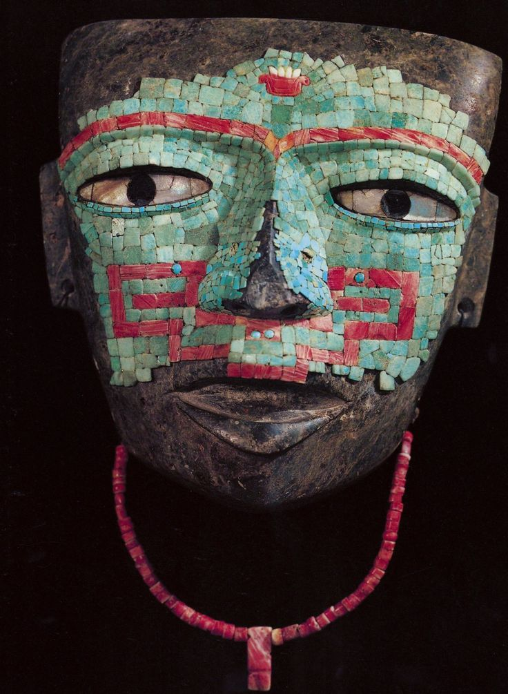 Teotihuacan Mask. The turquoise is from the Aztec Period.