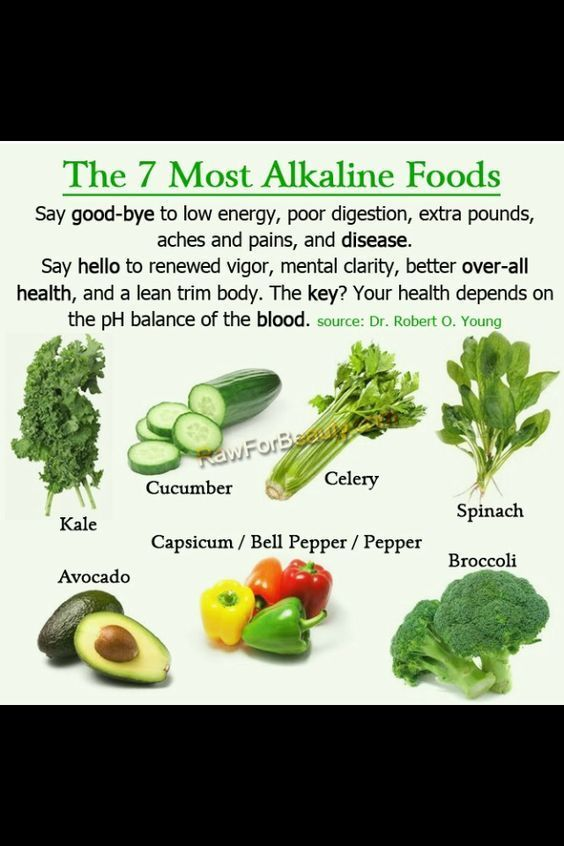 7 most alkaline foods. Say good-bye to low energy, poor digestion, extra pounds, aches and pains, and disease; say hello to renewed vigour, mental clarity, better overall health, and a lean trim body.  The key? Your health depends on the pH balance of your blood. #plantbased #diet #health