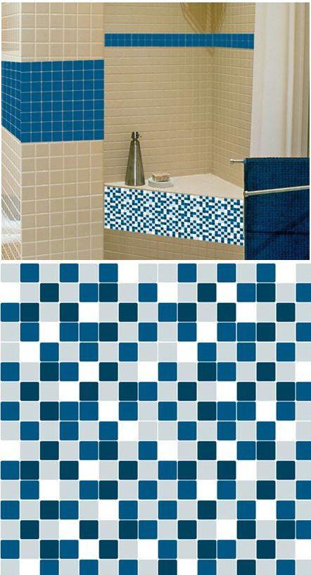Mosaic Blue Marine Adhesive Wall Tiles Wall Sticker