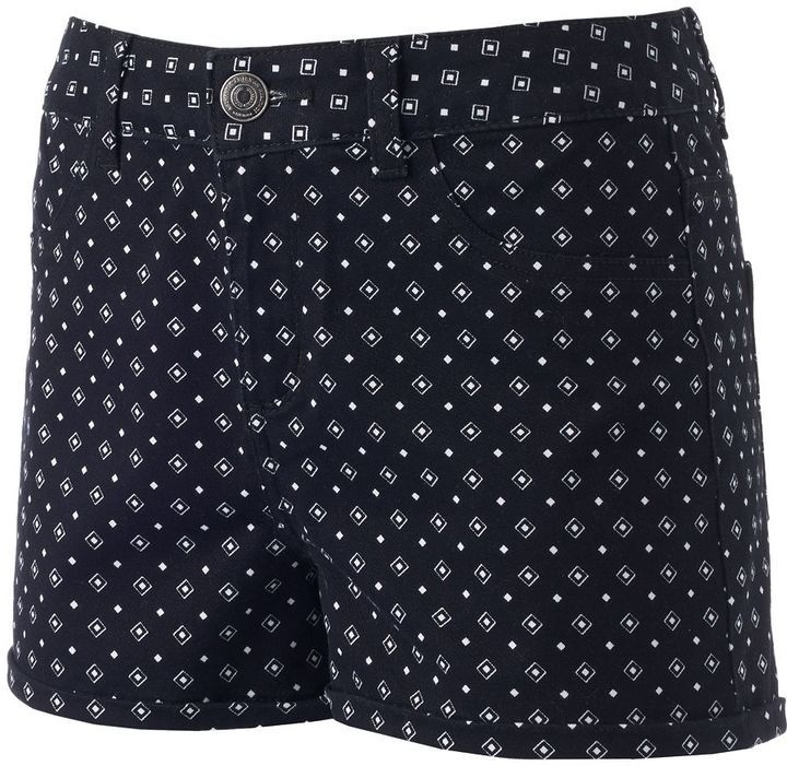 Juniors' SO® High-Waisted Shortie Shorts
