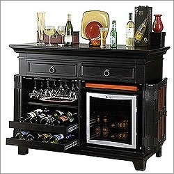 Want a bar like this in my dining room, just needs more room for other glasses.