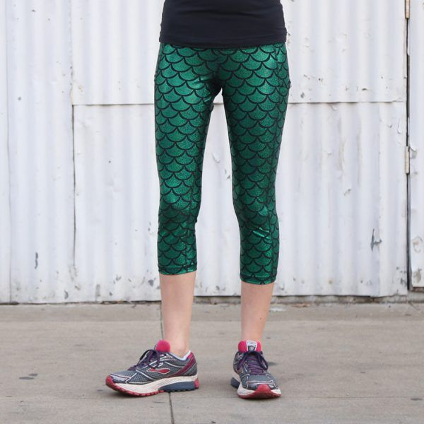 Mermaid Running Capris | Perfect running capris to use in costumes! These super comfortable Sparkle Athletic Capris will help you shine, whether you're running to win, running for fun, or just running errands around town.