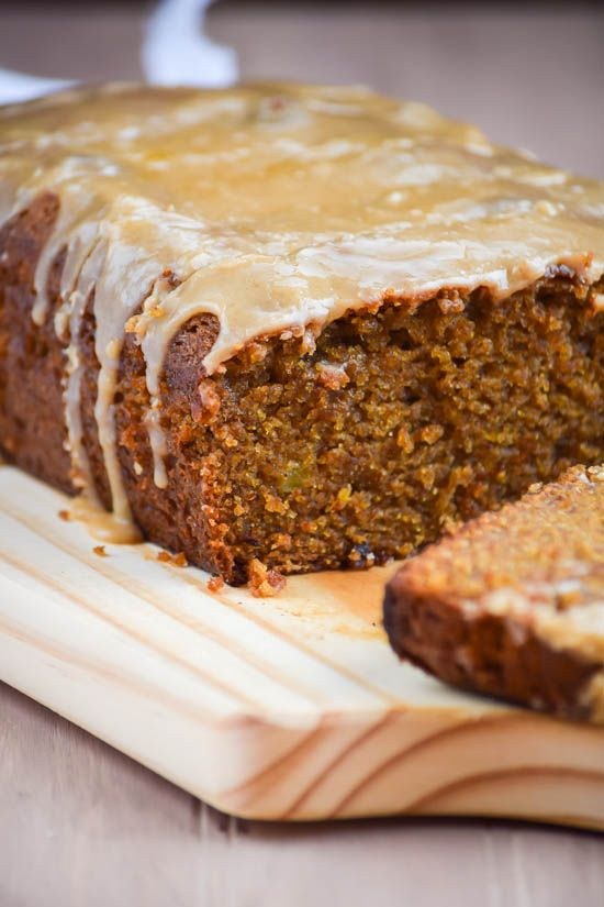 Spiced Whole Wheat Sweet Potato Bread with Brown Butter Icing | Gringalicious.com