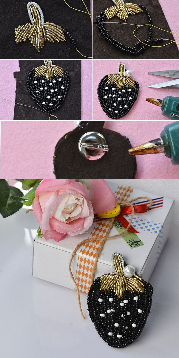 Strawberry brooch, lovely, right? LC.Pandahall.com has shared us the tutorial. Go and check it. #pandahall