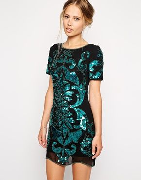 Frock And Frill - Robe droite à sequins motif baroque