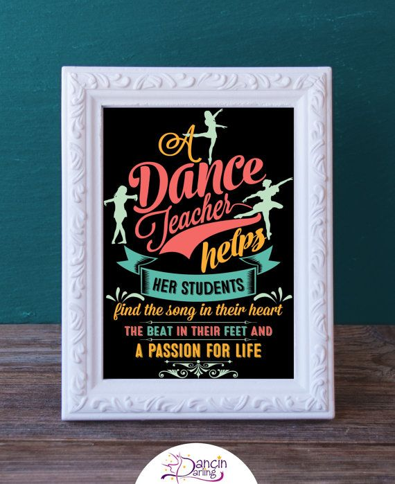 Printable Dance Teacher Gift  Dance Recital by DancinDarling