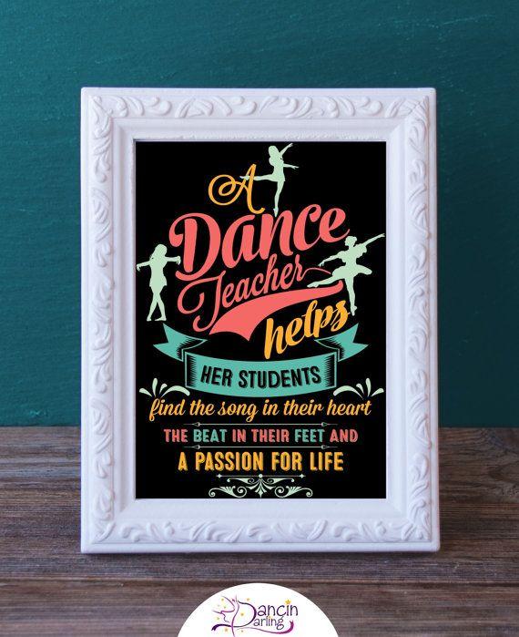 Printable Dance Teacher Gift  Dance Recital by DancinDarling