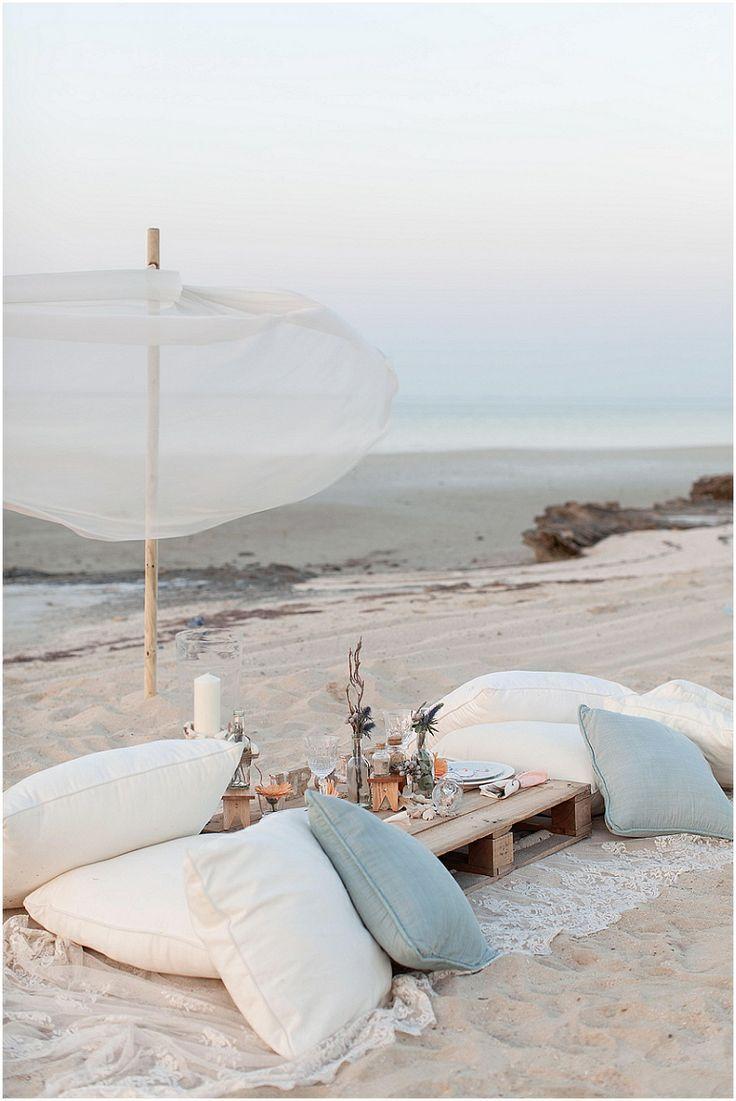 regardsetmaisons: Pour une soirée chic sur la plage
