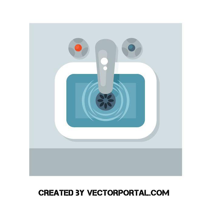 Groovy Kitchen Sink Vector Clip Art Various Vectors Free Vector Home Interior And Landscaping Spoatsignezvosmurscom