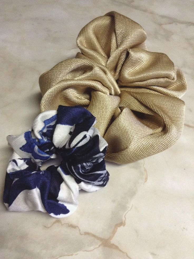 Set of two,Gold,White&Blue Scrunchies,Scrunchy,Handmade,Novelty fabric used,Hair ties,Hair accessories,Good for gift #etsy #ebay #handmade #diy #scrunchies #hair #hairstyle #gold #golden #design #fashion #longhair #print  #hairties #hairaccessories #novelty #gorgeous #shiny #blonde #blue #hobby