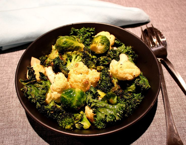 brocolli, cauliflower, Brussels sprouts and kale