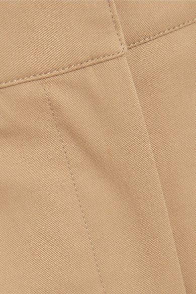 Burberry - Cotton-blend Twill Pants - Camel - UK10