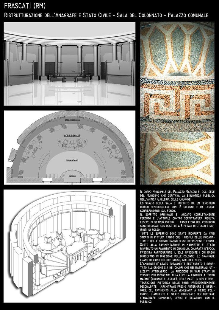 Restauro e Allestimento - Sala del Colonnato . Anagrafe- Palazzo Comunale _FRASCATI, Frascati, Roberto Pinci