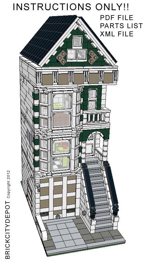 Lego Custom Modular Building - San Francisco Victorian House - INSTRUCTIONS ONLY #LEGO