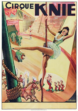 Vintage Circus Poster. pretty little corde shoes?