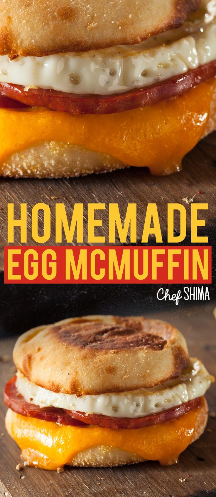 Homemade Egg McMuffin | The best McMuffin recipe!!! PERIOD!