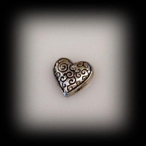 Scroll Heart Floating Charm | Latest fashion jewellery from around the world
