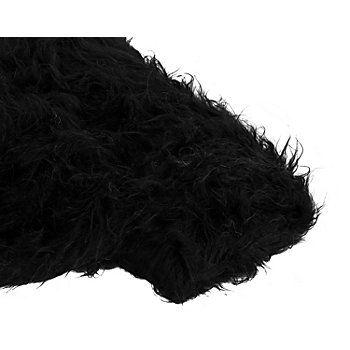 """Langhaarplüsch,Farbe: schwarz, mit glatter Rückseite, Florhöhe: 40 mm, Breite: 150 cm, Gewicht: ca. 435 g/m². Material: 80 % Polyacryl, 20 % Polyester.Der kuschelige Langhaarplüsch ist herrlich weich und lässt sich wunderbar als Fellimitat verwenden. Er ist hervorragend geeignet für """"tierische"""" Kostüme, wuschelige Deko-Teddys und Kissen, zum Abfüttern von Decken, zum Ausstatten ..."""
