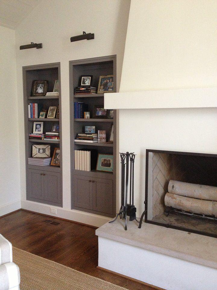 stucco fireplace; hannon douglas