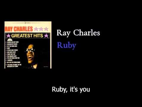 Ray Charles - Ruby - w lyrics- (theme song from Ruby Gentry -- Ray sings it best)