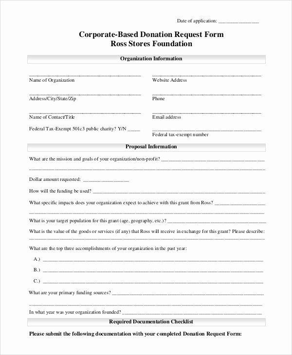 Donation Form Template Pdf Luxury 10 Sample Donation Request Forms Pdf Word Donation Request Form Donation Request Donation Form