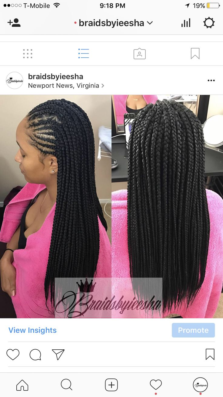 MEDIUM BOX BRAIDS WITH CORNROWS