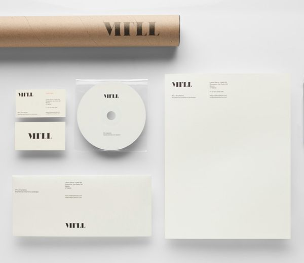 MTLL stationery designed by Anagrama. #Branding #Design #Architecture #Logo #Stationery #Print