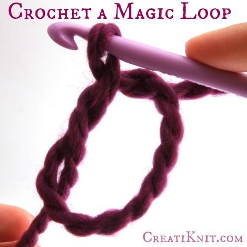 How to crochet a magic loop, ... It's so easy!