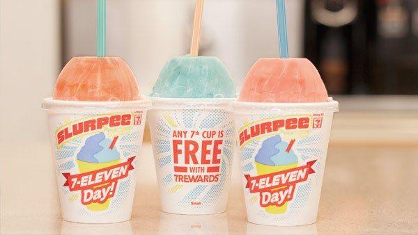 Free slurpee day 7/11