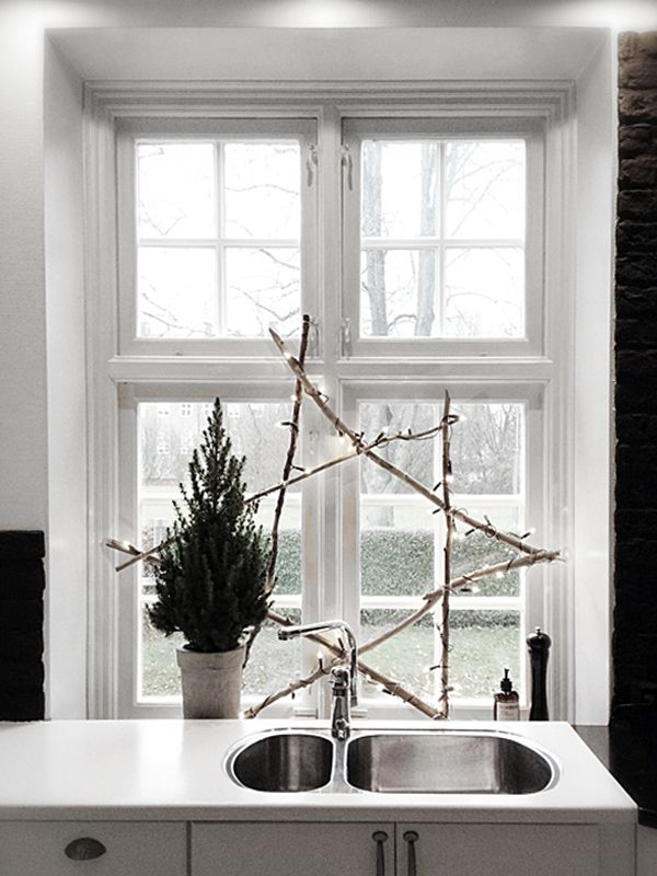 Christmas star lights kitchen Advent | Fotograf Therese Romell - Part 2